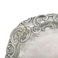 PRINCE OF WALES very rare ceremonial tray, German 800 silver,