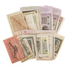 Small Collection Of Banknotes In Germany,1 In.H. 20. Century. -