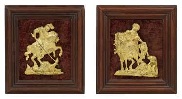 Pair of rare Baroque sacred reliefs