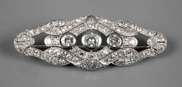 Brooch with brilliant-cut diamonds of approximately 2.5 ct