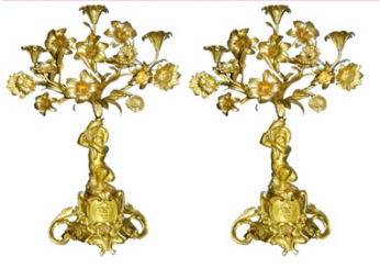 Pair of candelabra 19th century
