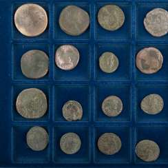 Tableau with Roman coins - 20 antiquity and late antiquity