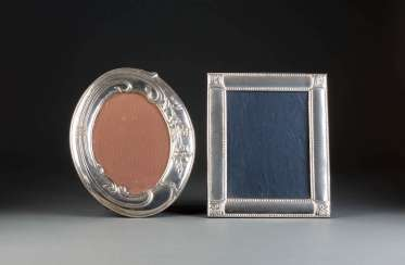 TWO DECORATIVE STAND, PHOTO FRAMES