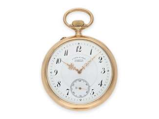 Pocket watch: heavy and large red-gold A. Lange & Söhne pocket watch with the rare calibre 45, quality 1A, CA. 1905 with the master excerpt from the book