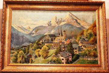 "The painting ""Life in the mountains."" Sajewski. 1943."