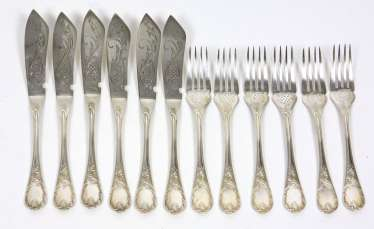 Historicism Fish Cutlery Set