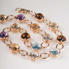 Modern, high-quality color stone necklace.