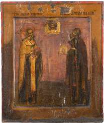 ICON WITH SAINT NICHOLAS AND ANTHONY THE ROMAN