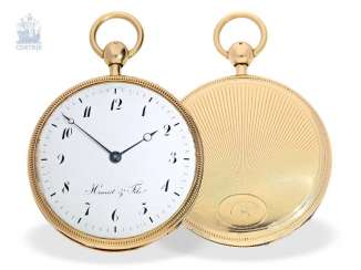 Pocket watch: very fine, large pocket watch with a repeater, 18K Gold, master watchmaker: Houriet & Fils No. 8110, around 1810
