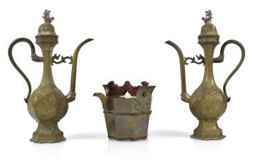 Three Brass Jugs