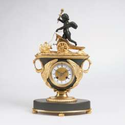 Fine Empire clock with Cupid as the 'allegory of love'