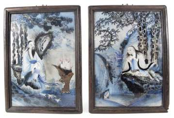 Few Under-Glass Paintings, China