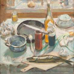 YURI MICHAJLOWITSCH SCHABLYKIN 1932 St. Petersburg (Leningrad) Still life Oil on hardboard. 43