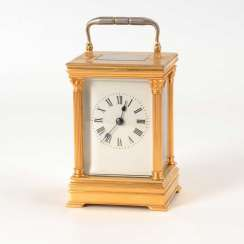 Carriage clock with half hour strike.