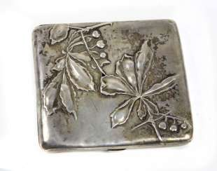Art Nouveau Cigarette Case - Silver 800