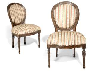 PAIR OF CHAIRS, LOUIS XVI STYLE