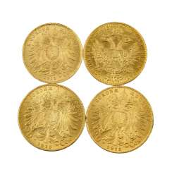 4-piece gold Austria vintage, among others