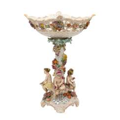 SAXON porcelain manufactory in Dresden Potschappel/Freital, times of the year-table top, 20. Century