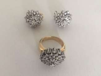 Diamond Ring and earrings