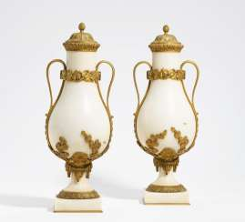 Pair of ornamental vases Style Louis XVI