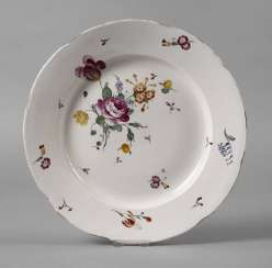 Frankenthal Plate Flower Painting