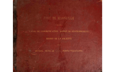 Great collection of plan on the construction of the basin of la Joliette(new port de commerce, Marseille) in 1847