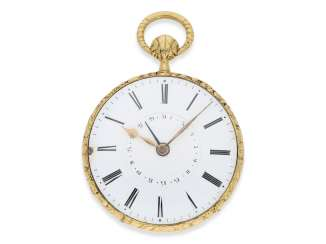 Pocket watch: extremely rare Lepine, the earliest known pocket watch by Vacheron & Constantin with Repetition and date, No. 33761, CA. 1830