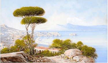 author: M. Gianni, Italy, end of XIX century, gouache