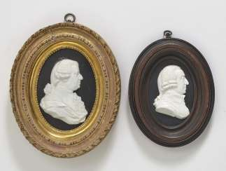 Two portrait medallions of Adam Smith and an unknown noble Scotland, after James Tassie (1735 - 1799)