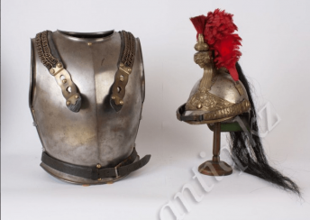 the armour of French cuirassier