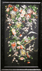 Embroidery Japan, silk 20th century