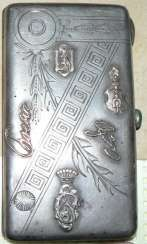 The cigarette case. Russia of the XIX-th century 84 Ave.