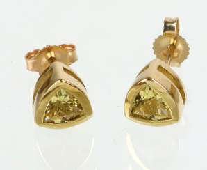 Beryl Earrings Yellow Gold 375