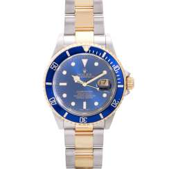 ROLEX Submariner men's watch; Ref. 16613, D-series (approx. in 2005/2006). Stainless steel/Gold 18K.
