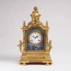 Table clock with cherubs
