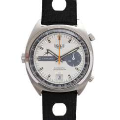 HEUER CARRERA Vintage men's watch, Chronograph, CA. late 1960's/early 1970's. Stainless steel.
