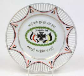 Souvenir Plate Year Of The War In 1914