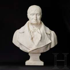 Life-size marble bust of a gentleman, France, mid-19th century