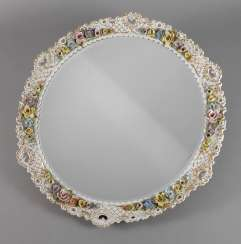 Thuringia, large wall mirror with flower trim