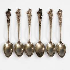 6 silver coffee spoons