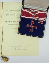 Discount Egon Franke: lower Saxony: lower Saxony order of merit, Grand cross of merit, in a case with certificate for the Bundestag.
