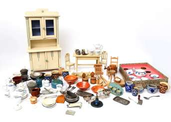 Extensive Collection Of Doll's Kitchen Accessories,