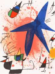 MIRO, Joan: composition with blue star.