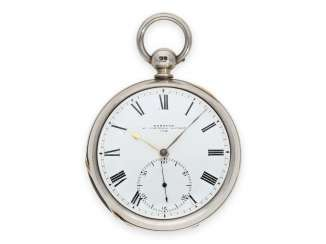 Pocket watch: interesting English Pocket chronometer by one of the most important chronometer makers, königl. Watchmaker Barraud, London, No. 1658, Hallmark London 1851