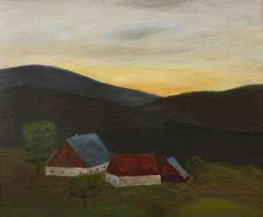 Prof. Franz Lenk, attributed to the HOMESTEAD in the evening light