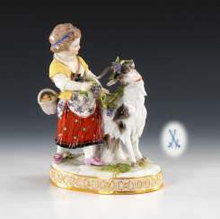Girl with goat, MEISSEN.