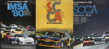 Three Motor Racing Posters Porsche