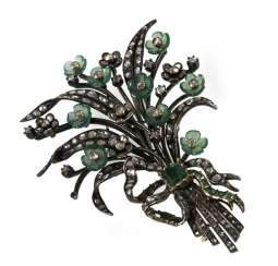 Bouquet Of Flowers Brooch, Si/Gg,