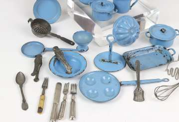 Blue-enamel doll ware among other things