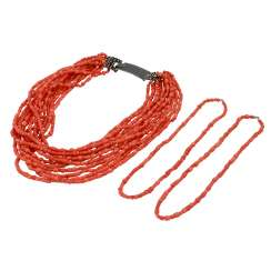 Coral necklace 12 rows,